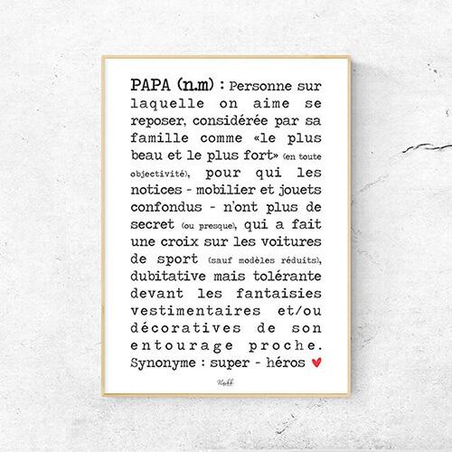 Affiche définition Papa A4