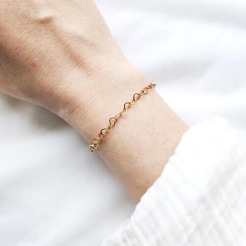 Bracelet maille Cupidon