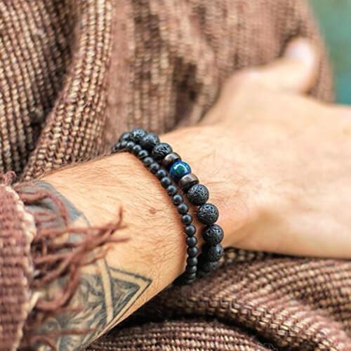 Bracelet tibétain pierre de lune