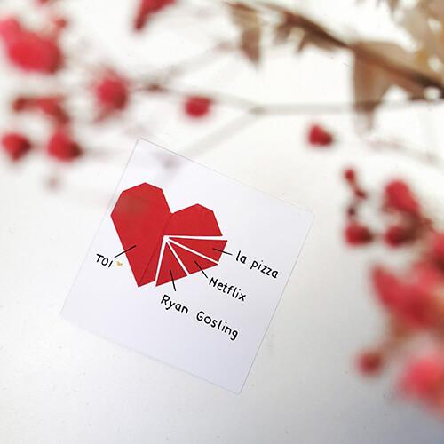 Carte origami Ryan Gosling