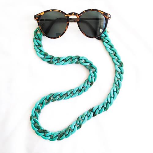 Chaîne de lunettes turquoise