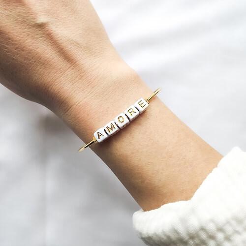 Bracelet jonc Mantra AMORE