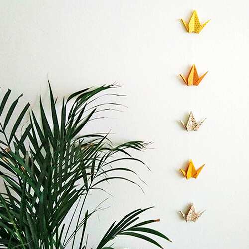 Kit DIY origami - Guirlande de grues
