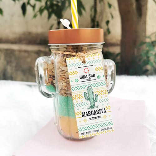 Mélange pour cocktail Margarita verre cactus