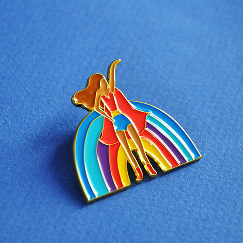 Pin's – La Rainbow girl