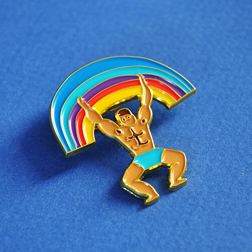 Pin's - Le Rainbow man